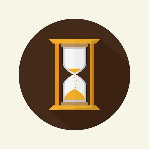 Conception du temps. Vecteur Premium
