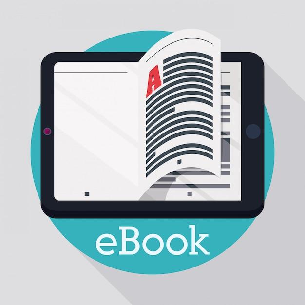 Conception D'ebook. Vecteur Premium