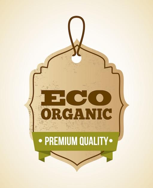Conception d'écologie sur illustration vectorielle fond beige Vecteur Premium