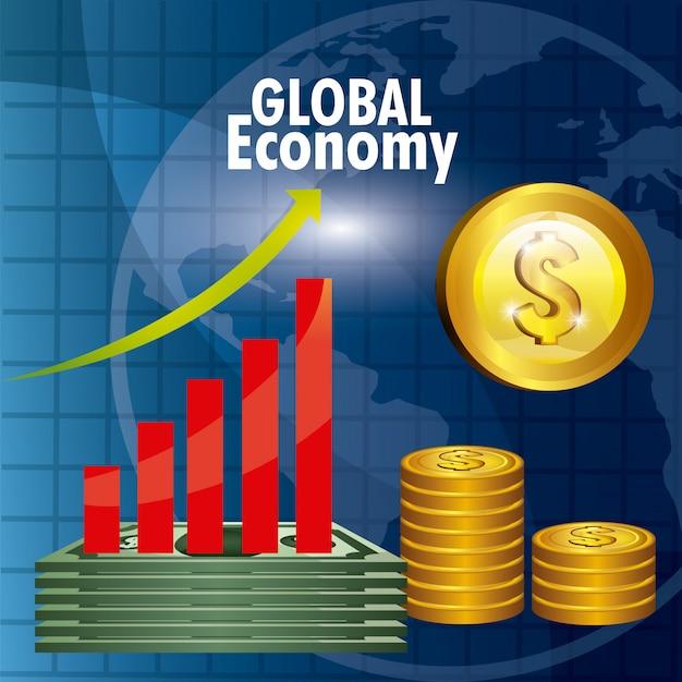 Conception de l'économie mondiale. Vecteur gratuit