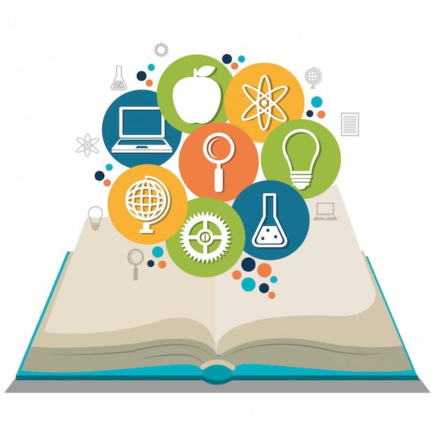 Conception de l'éducation Vecteur Premium