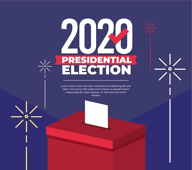 Conception De L'élection Présidentielle Américaine 2020 Vecteur Premium