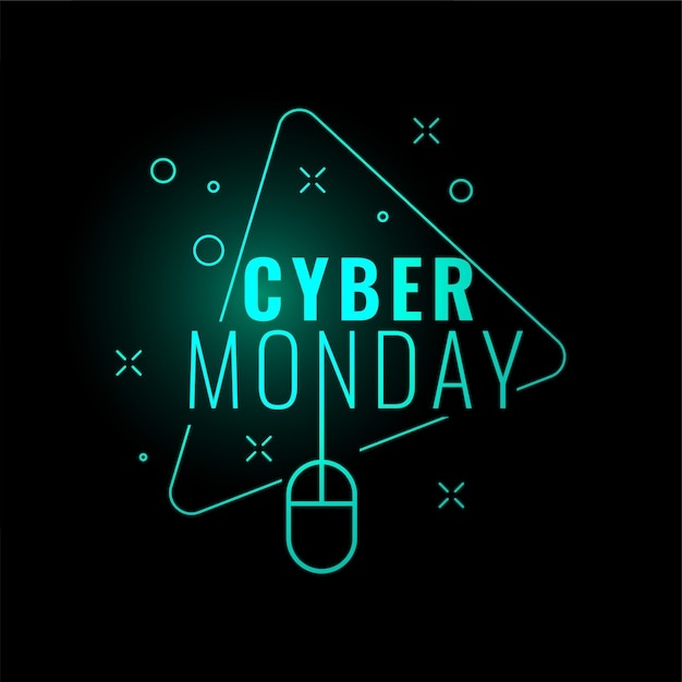 Conception élégante bannière numérique numérique cyber lundi Vecteur gratuit