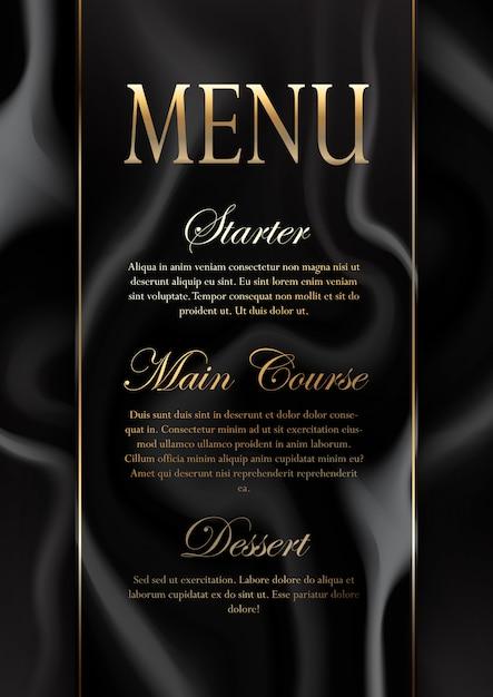 Conception élégante de menu de texture de marbre Vecteur gratuit
