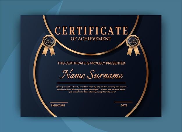 Conception élégante De Modèle De Certificat De Réussite Vecteur Premium