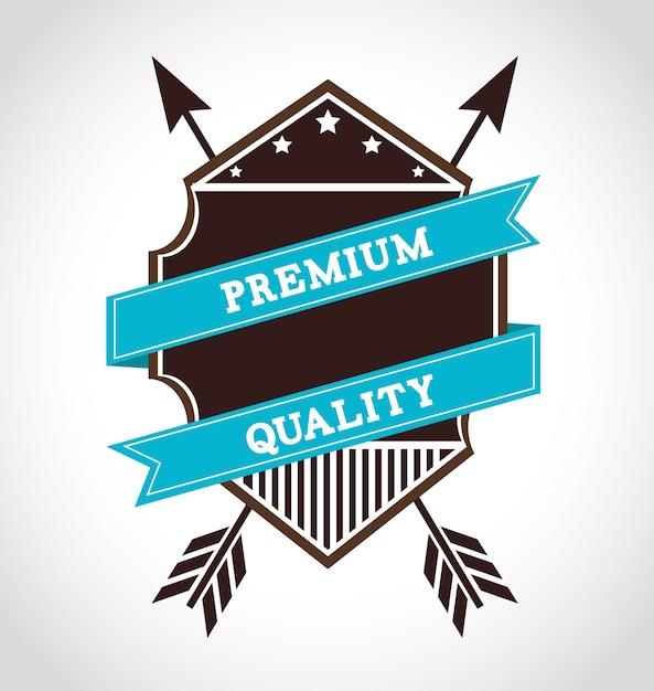 Conception de l'emblème Vecteur Premium