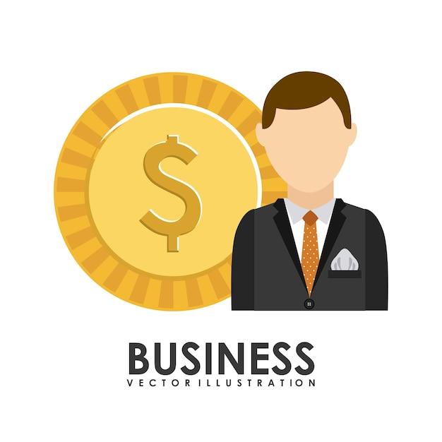 Conception de l'entreprise au cours de l'illustration vectorielle fond blanc Vecteur Premium
