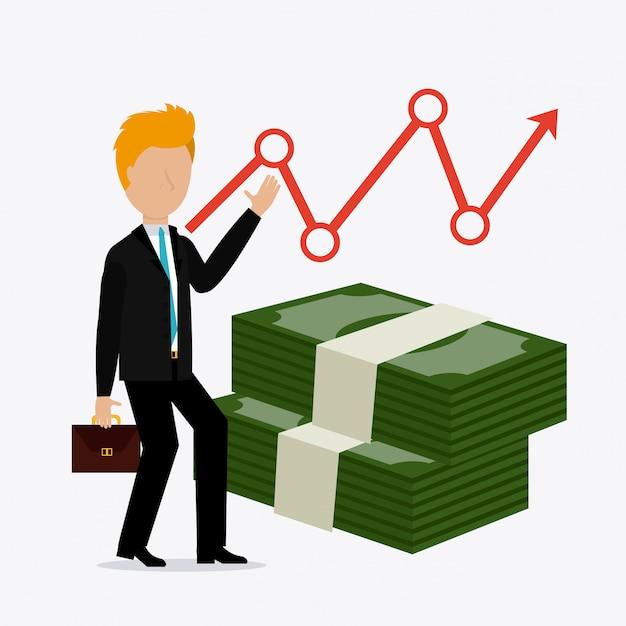 Conception d'entreprise à but lucratif. Vecteur Premium
