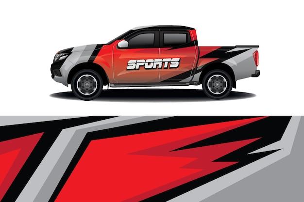 Conception D'enveloppe De Décalque De Voiture De Camion Vecteur Premium