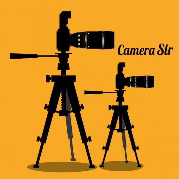Conception d'équipement de caméra Vecteur Premium