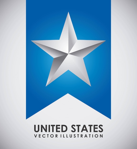 Conception des états-unis Vecteur gratuit