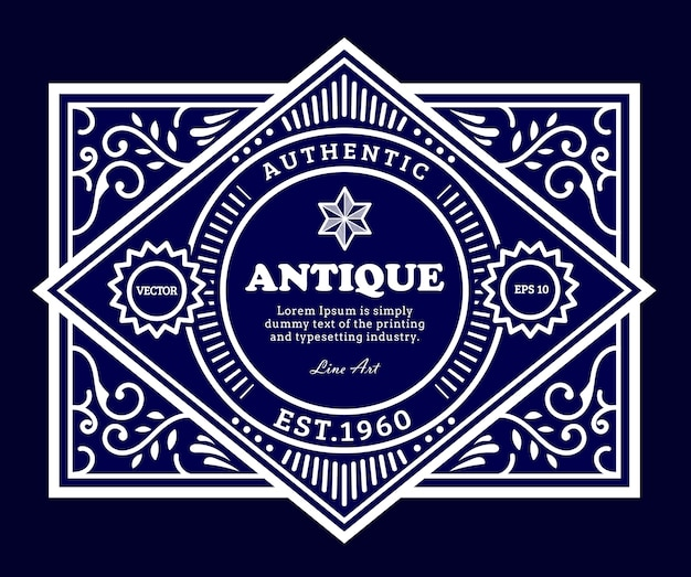 Conception D'étiquettes Anciennes Vintage Vecteur Premium