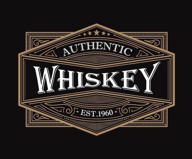 Conception D'étiquettes De Whisky Vintage Vecteur Premium