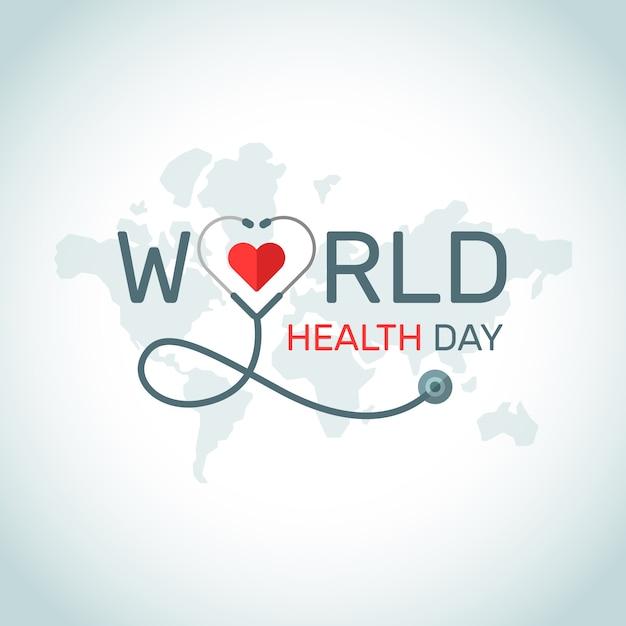 Conception D'événements Pour La Journée Mondiale De La Santé Vecteur Premium