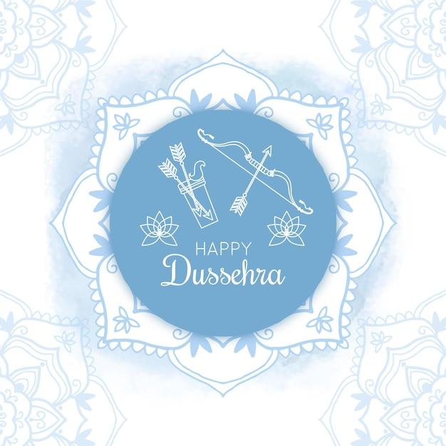 Conception De Festival De Dussehra Dessinée à La Main Vecteur Premium