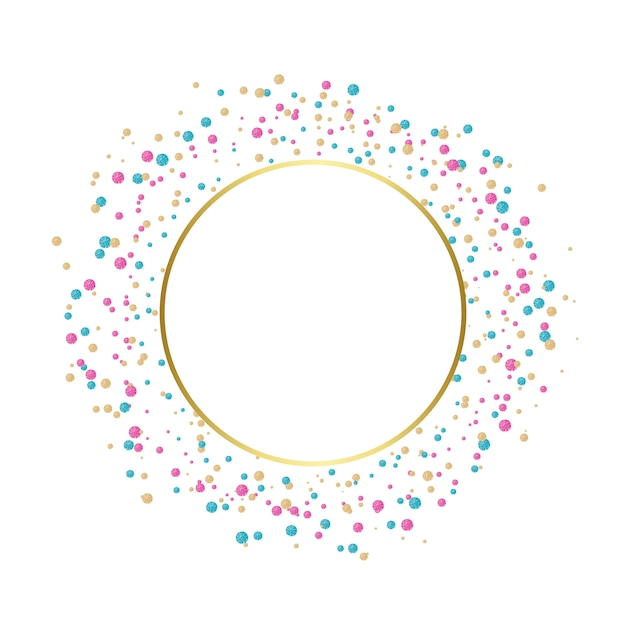 Conception Festive De Confettis Colorés Vecteur gratuit