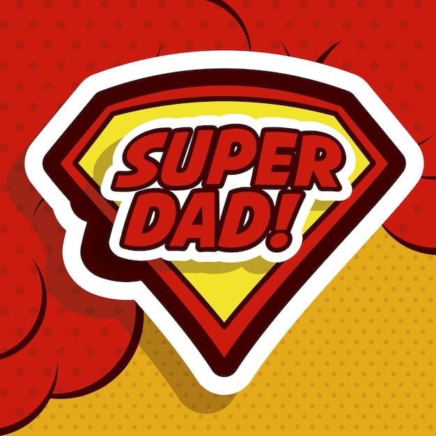 Conception de fête des pères Vecteur Premium