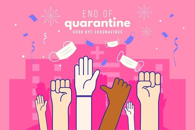 Conception De Fin De Quarantaine Vecteur gratuit