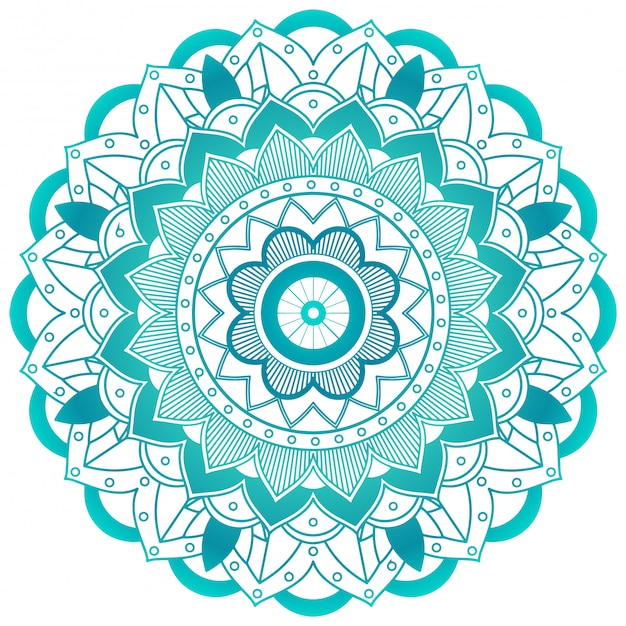 Conception de fleur verte mandala Vecteur gratuit