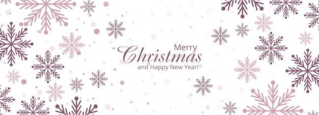 Conception De Flocons De Neige Décoratifs De Noël De Vacances Vecteur gratuit