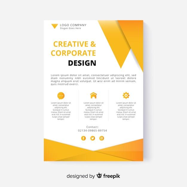 Conception de flyer abstrait Vecteur gratuit