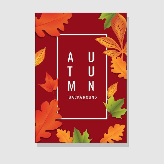 Conception de flyer automne avec espace de texte Vecteur Premium