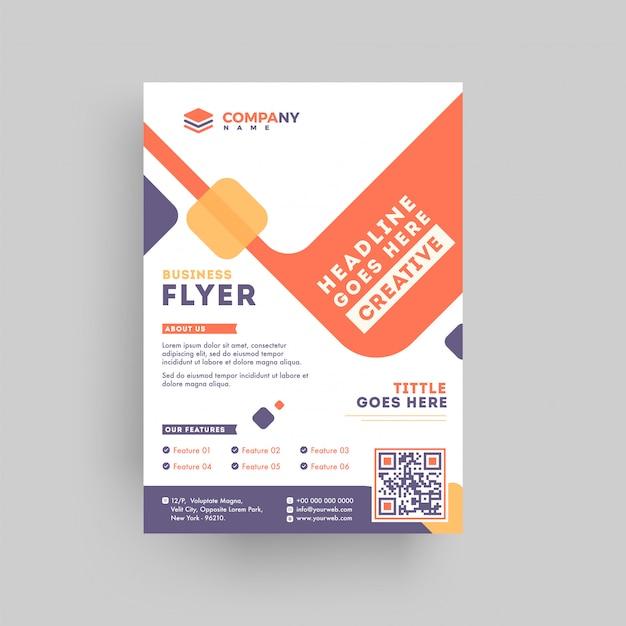 Conception de flyer ou modèle de proposition marketing entreprise. Vecteur Premium