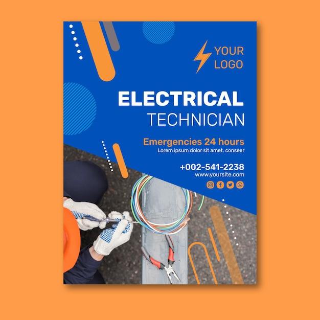 Conception De Flyer V électricien Vecteur gratuit
