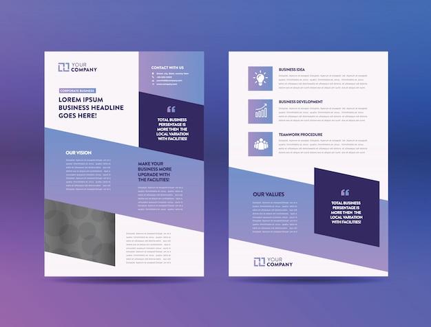 Conception de flyers commerciaux Vecteur Premium