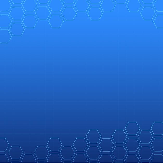 Conception de fond abstrait bleu Vecteur Premium