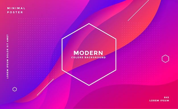 Conception De Fond Abstrait Dynamique Moderne De Style Fluide Vecteur gratuit