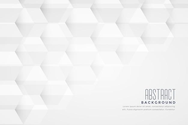 Conception De Fond Blanc Géométrique Abstrait Forme Hexagonale Vecteur gratuit