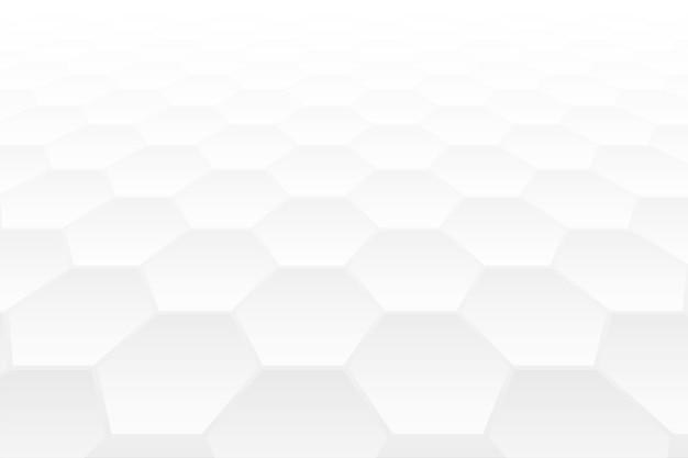 Conception De Fond Blanc Style Perspective 3d Forme Hexagonale Vecteur gratuit