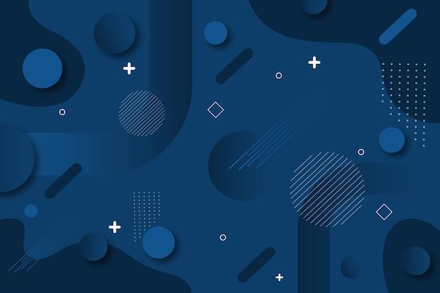 Conception De Fond Bleu Classique Abstrait Vecteur gratuit