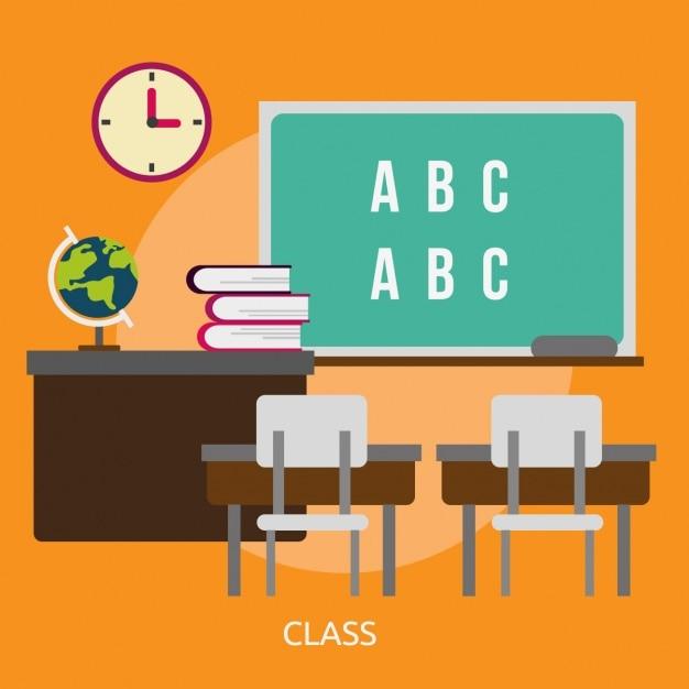 Conception de fond de classe Vecteur gratuit
