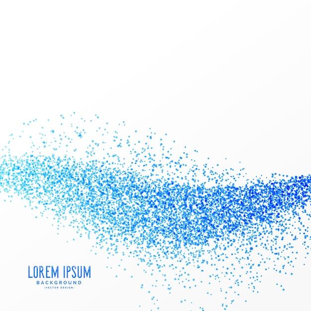 Conception de fond d'effet de vague de particules bleues Vecteur gratuit