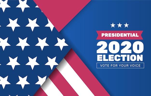Conception De Fond De L'élection Présidentielle Américaine 2020 Vecteur gratuit