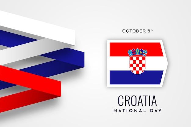 Conception De Fond De La Fête Nationale De La Croatie Vecteur Premium