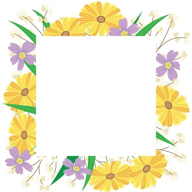 Conception De Fond Floral Vecteur Premium