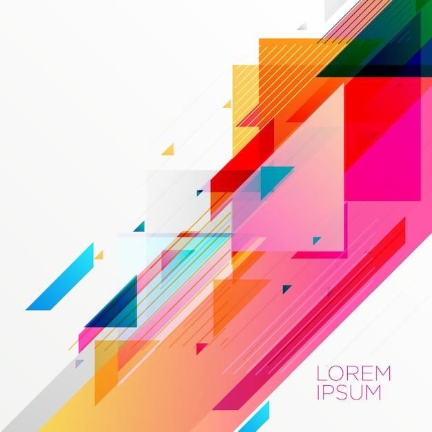 Conception de fond géométrique abstrait coloré créatif Vecteur gratuit