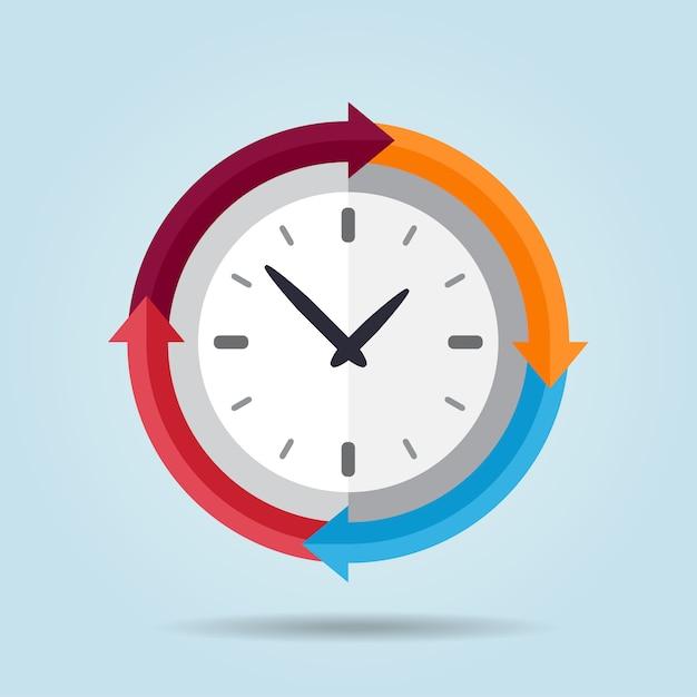 Conception de fond d'horloge Vecteur Premium