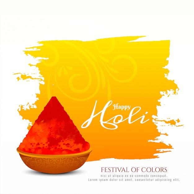 Conception De Fond Joyeux Festival Indien Holi Vecteur gratuit