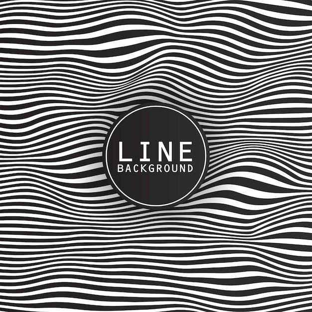 Conception De Fond De Ligne Avec Le Thème Sombre Et Logo Vecteur gratuit
