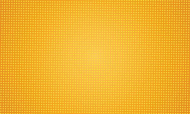 Conception de fond pointillé abstrait jaune Vecteur Premium
