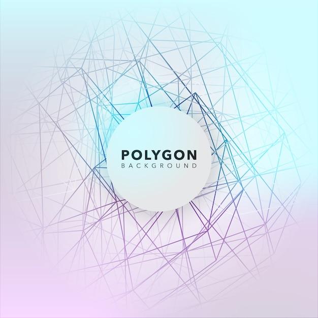 Conception de fond polygonale Vecteur gratuit