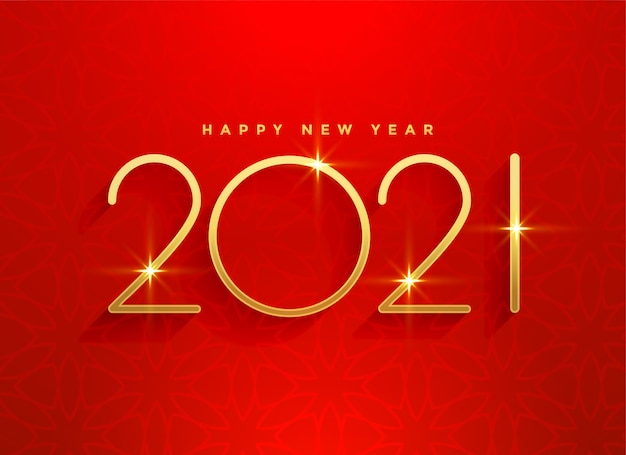 Conception De Fond Rouge Bonne Année 2021 Or Vecteur gratuit