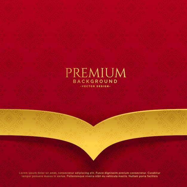 Conception de fond rouge et or premium Vecteur gratuit