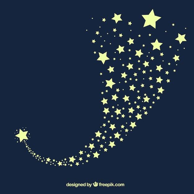 Conception De Fond De Sentier étoiles Bleu Foncé Vecteur gratuit