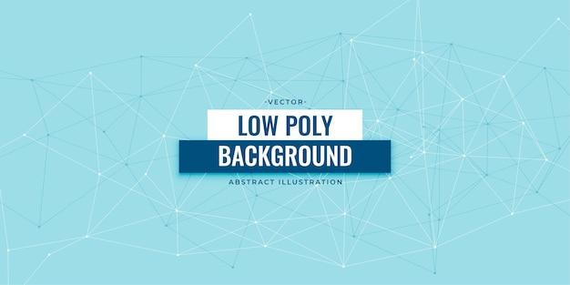 Conception De Fond De Technologie Numérique Low Poly Vecteur gratuit