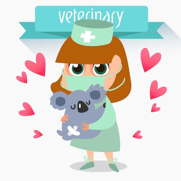 Conception de fond veterianarian Vecteur gratuit
